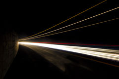 Car light trails. Art image. Stock Photography