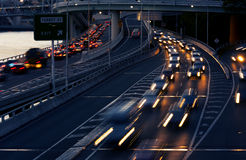 Car light trails Royalty Free Stock Photography