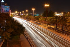 Car light trails Stock Image