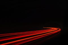 Free Car Light Trails In The Tunnel. Stock Photos - 40322833