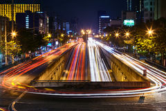 Free Car Light Trails On Long Exposure Royalty Free Stock Photo - 75479475