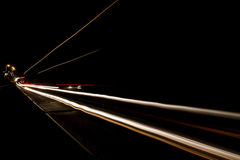 Car light trails on the road. Nobody Royalty Free Stock Photo