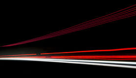 Car light trails on the road. Nobody Royalty Free Stock Image