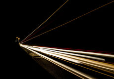 Car light trails on the road. Nobody. Car light trails on the road Stock Images