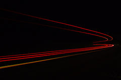 Car light trails in the tunnel. Stock Images