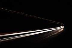 Car light trails in the tunnel. Stock Photography