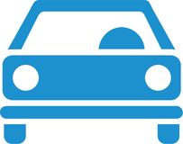 Car lightblue frontview. Driving vector Stock Photography