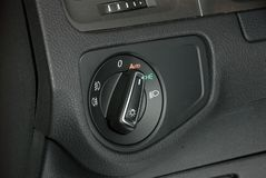 Car lighting switch Royalty Free Stock Photo