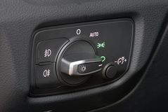 Car lighting switch Stock Images