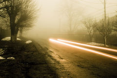 Car lights Royalty Free Stock Images