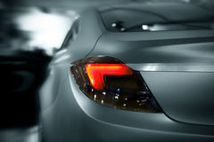 Car lights. Abstract car lights with motion effect, toned Stock Photo