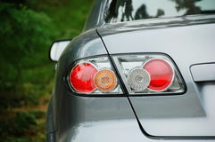 Car lights. Picture of car lights on rear Stock Photos