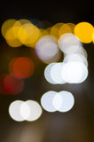 Car lights bokeh Royalty Free Stock Photography