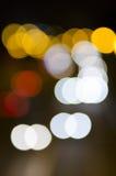 Car lights bokeh Royalty Free Stock Photography