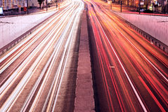 Car lights. Royalty Free Stock Images