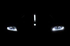 Car lights in the dark.  Stock Photo