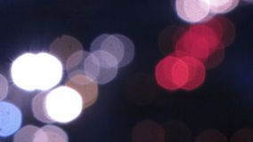 Car lights. stock footage