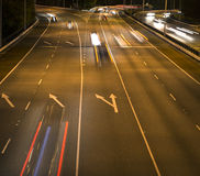 Car lights on a highway Royalty Free Stock Photos