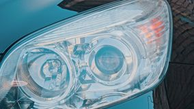 Car light and turn signals. Car lights and lamp of turn signals stock video