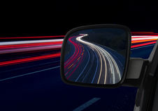 Car lights and mirror Royalty Free Stock Photo