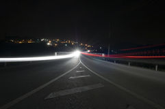 Car lights at night Royalty Free Stock Photography