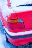 car lights rear red snow στοκ φωτογραφία με δικαίωμα ελεύθερης χρήσης
