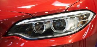 Car lights. Red sport Car lights close up Stock Photos
