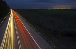 Car Lights road Addressing City Stock Image