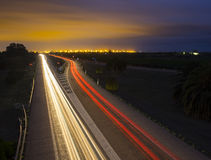 Car Lights road Addressing City Stock Image