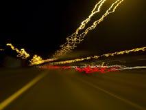 Car lights stream Royalty Free Stock Photos