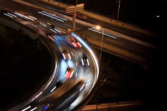 Car lights trace Royalty Free Stock Photo