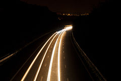 Car lights trail Stock Photos