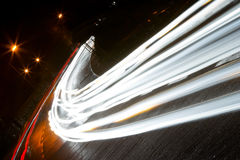 Car lights trails Royalty Free Stock Images
