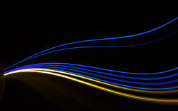 Car ligth trails. Art image Royalty Free Stock Images