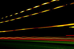Car ligth trails. Art image . Long exposure photo taken in a tun Royalty Free Stock Images