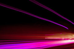 Car ligth trails. Royalty Free Stock Photos