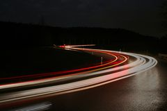 Car ligths. Ligths of some cars at the evening Royalty Free Stock Photography
