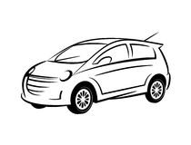 Car line art Royalty Free Stock Photography