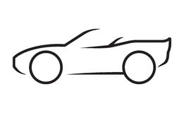 Car line art Royalty Free Stock Images