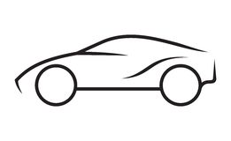 Car line art. Vector illustrations of the Car line art Royalty Free Stock Photography