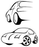 Car. Line drawing. Royalty Free Stock Photography