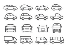 Car line icons Stock Photos
