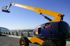 Car little hydraulic crane Stock Photos