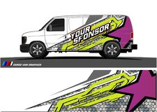 car livery Graphic vector. abstract racing shape design for vehicle vinyl wrap background vector illustration