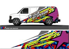 Car livery Graphic vector. abstract racing shape design for vehicle vinyl wrap background. Vector stock illustration