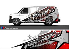 Car livery Graphic vector. abstract racing shape design for vehicle vinyl wrap background. Vector royalty free illustration