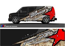 Car livery Graphic vector. abstract racing shape design for vehicle vinyl wrap background royalty free illustration