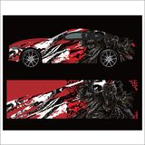 Car livery vector. abstract explosion with grunge