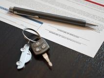 Car Loan Application Royalty Free Stock Photography