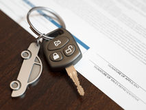 Car Loan Application. With car keys stock images